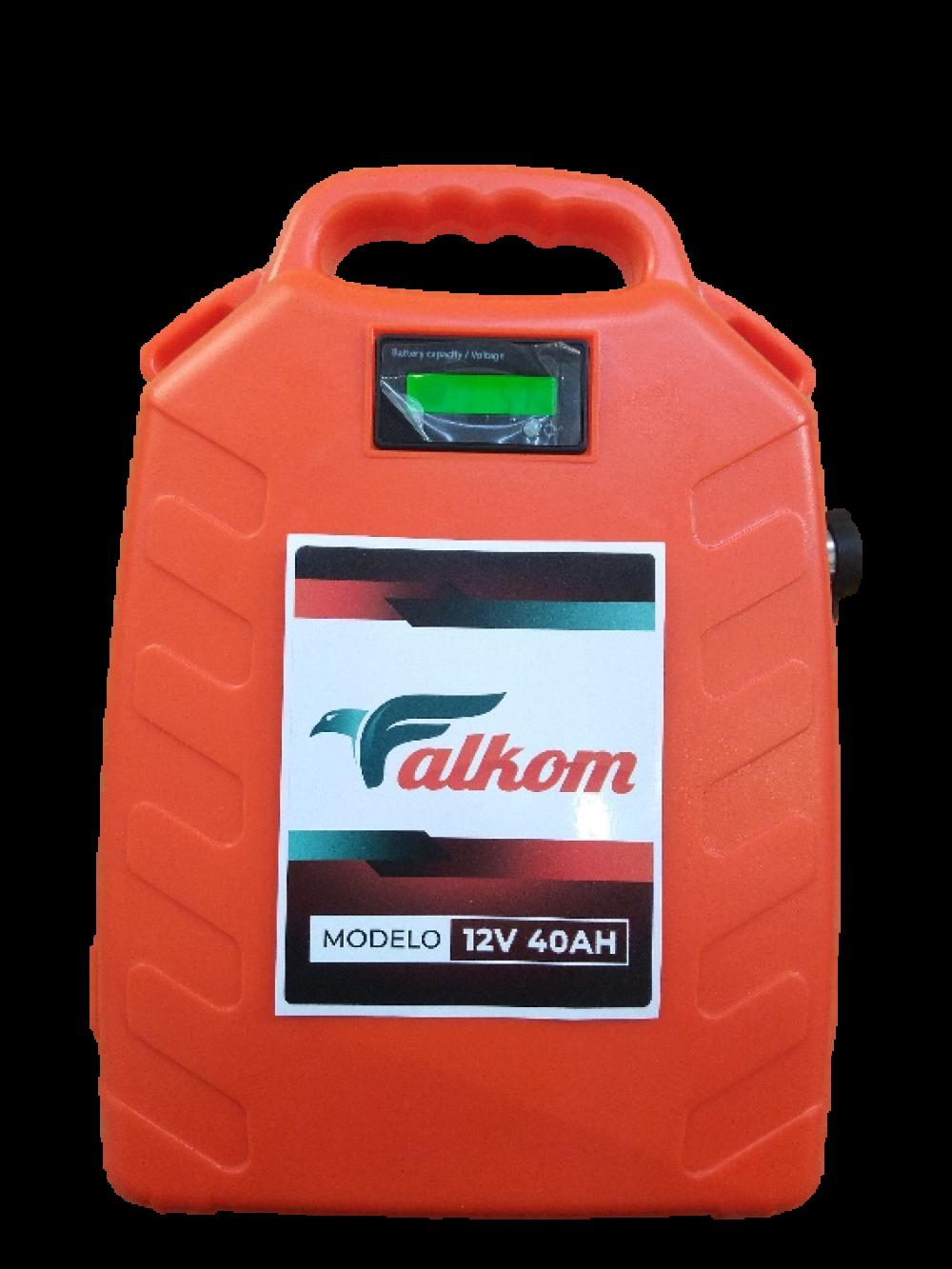 Mochila elétrica lítio 12v recarregável Falkom